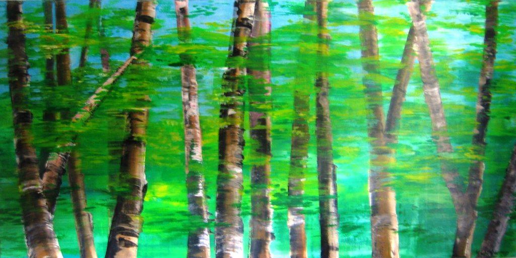 Bäume/Trees 80 cm x 160 cm I Acryl auf Leinwand/Acrylic Paint